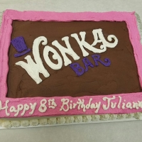 16092 Happy 8th Birthday Julianna Wonka Bar Sheet Cake
