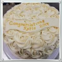 17022 Congratulations Katie 2017 Round Cake