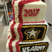 17024 Congratulations PJ US Army 2017 Multi Layer Cake View 1