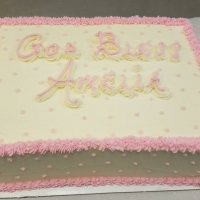 17046 God Bless Amelia Sheet Cake