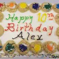 17053 Happy 10th Birthday Alex Colorful Cookie Border