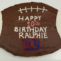 17054 Happy 10th Birthday Ralphie NY Giants Football Cake