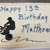 17029 Happy 13th Birthday Matthew Sheet Cake