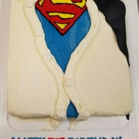 17030 Happy 30th Birthday David Superman Sheet Cake