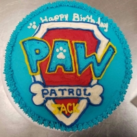 17004 Happy 4th Birthday Jack Paw Patrol Round Cake View 1