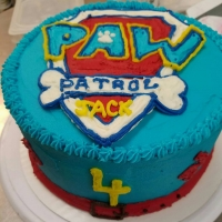 17005 Happy 4th Birthday Jack Paw Patrol Round Cake View 2