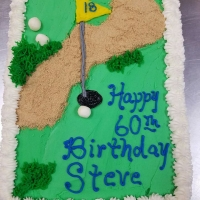 17006 Happy 60th Birthday Steve Golf Course Sheet Cake