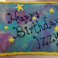 17048 Happy Birthday Izzy Sheet Cake