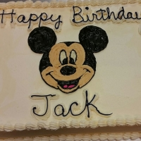 17049 Happy Birthday Jack Mickey Mouse Sheet Cake