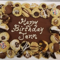 17059 Happy Birthday Jen Double Cookie Border Sheet Cake