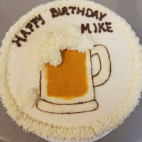 17034 Happy Birthday Mike Beer Mug Round Cake