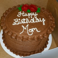 17008 Happy Birthday Mom Round Cake