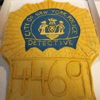 17010 NYPD Detective Gold Shield Cake