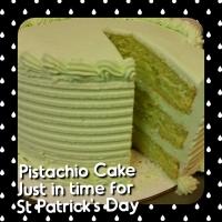 17012 St. Patrick's Day Pistachio Round Cake