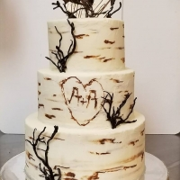 17065 Wedding Cake 3 Tier Birch Bark