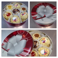 15004 Christmas Holiday Cookie Tins