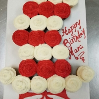 16012 Happy Birthday Marc Dr. Seuss Hat Cupcake Cake