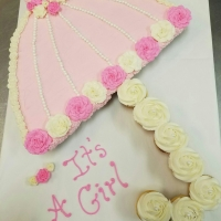 16007 Baby Shower It's a Girl Cupcake Cake