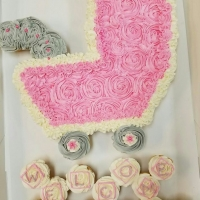 16002 Welcome Maddie Baby Stroller Cupcake Cake