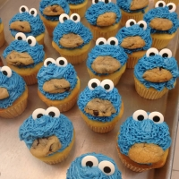 16007 Cookie Monster Cupcakes
