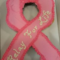 Breast Cancer Relay For Life Cupcake Cake