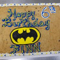 Happy 6th Birthday Finn Choc Chip Cookie Cake