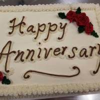 Happy Anniversary Sheet Cake