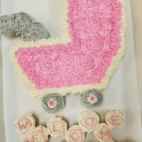 Welcome Maddie Baby Stroller Cupcake Cake