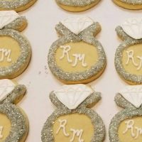 Engagement Ring Cookie Favors