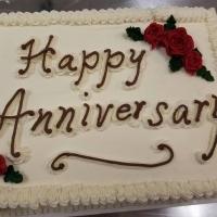 Happy Anniversary Sheet Cake