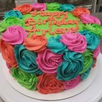 Happy Birthday Arlene Round Cake