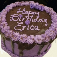 Happy Birthday Erica Round Cake