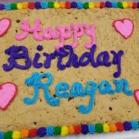Happy Birthday Reagan Chocolate Chip Cupcake Cake